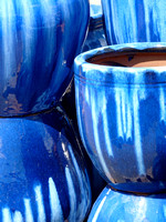 Pottery in Blue