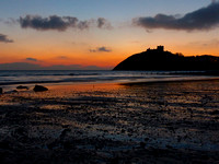 Sunset over Criccieth Castle