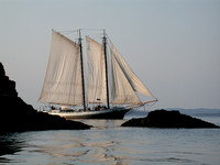 Photographs of Maine Coastal Towns, Rocky Coastline, Schooners and Sailboats